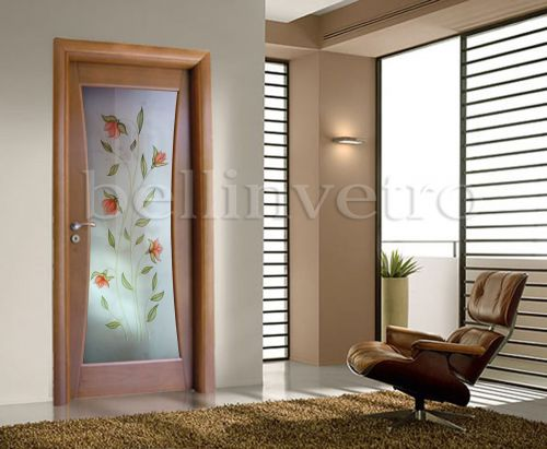 Produzione di vetrate artistiche e porte in vetro palermo - Porte moderne con vetro decorato ...